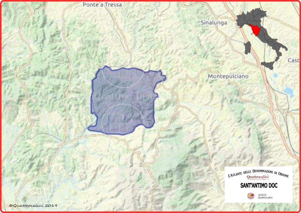 Cartina Sant'Antimo DOC