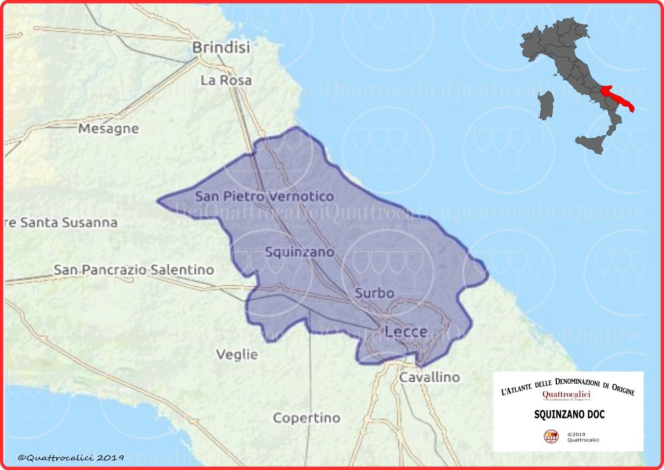 Squinzano DOC cartina