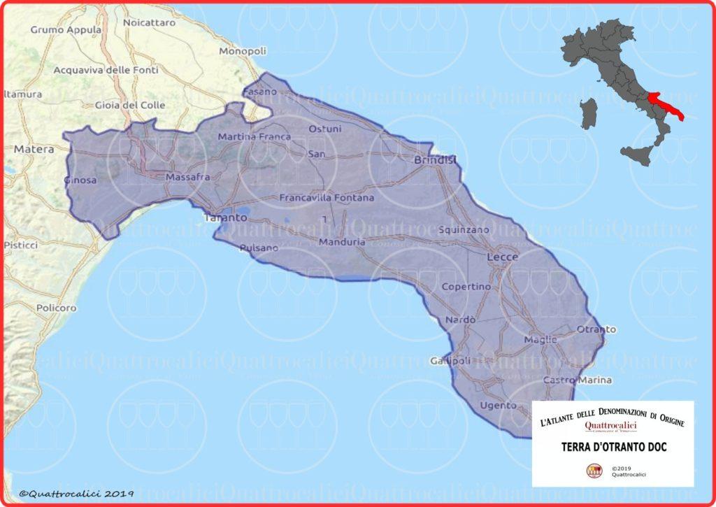Terra d'Otranto DOC cartina