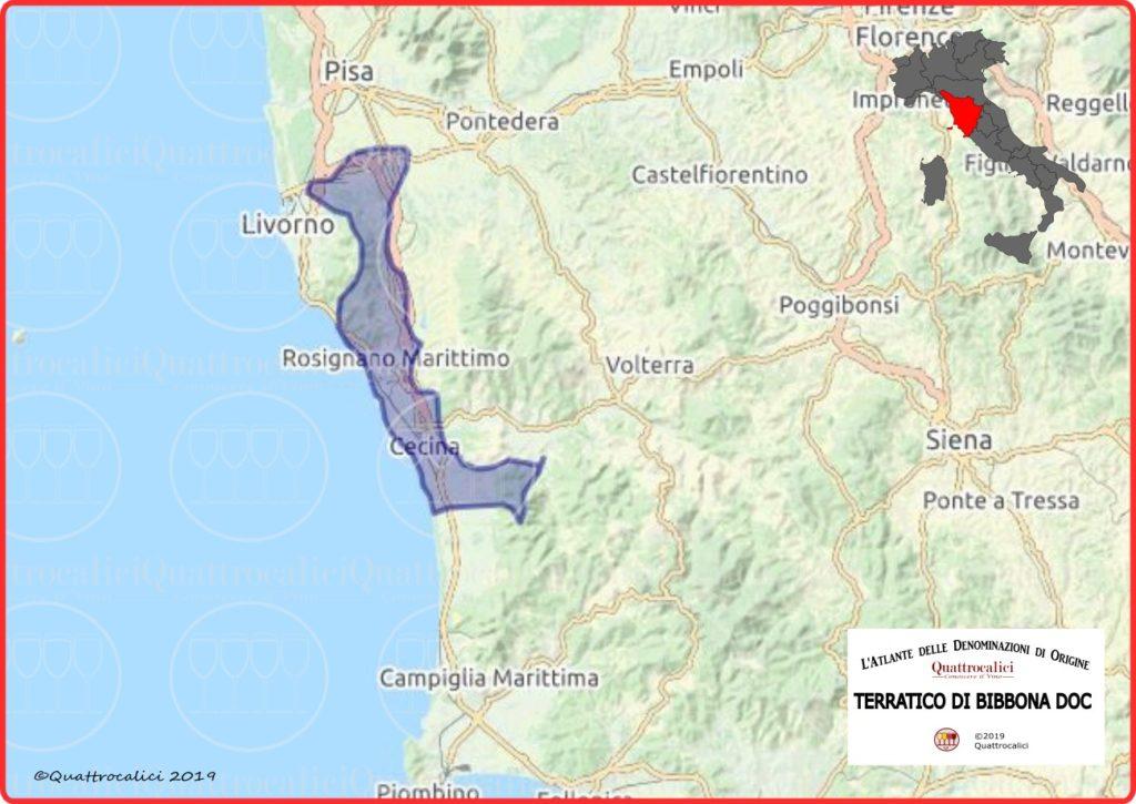 Cartina Terratico di Bibbona DOC