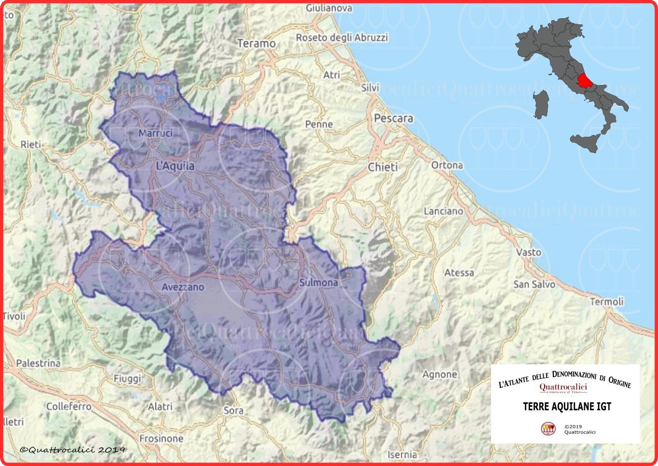 Terre Aquilane IGT Cartina