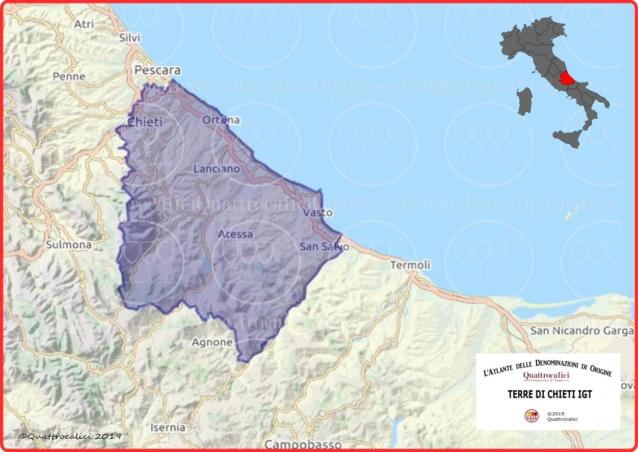 Terre di Chieti IGT Cartina