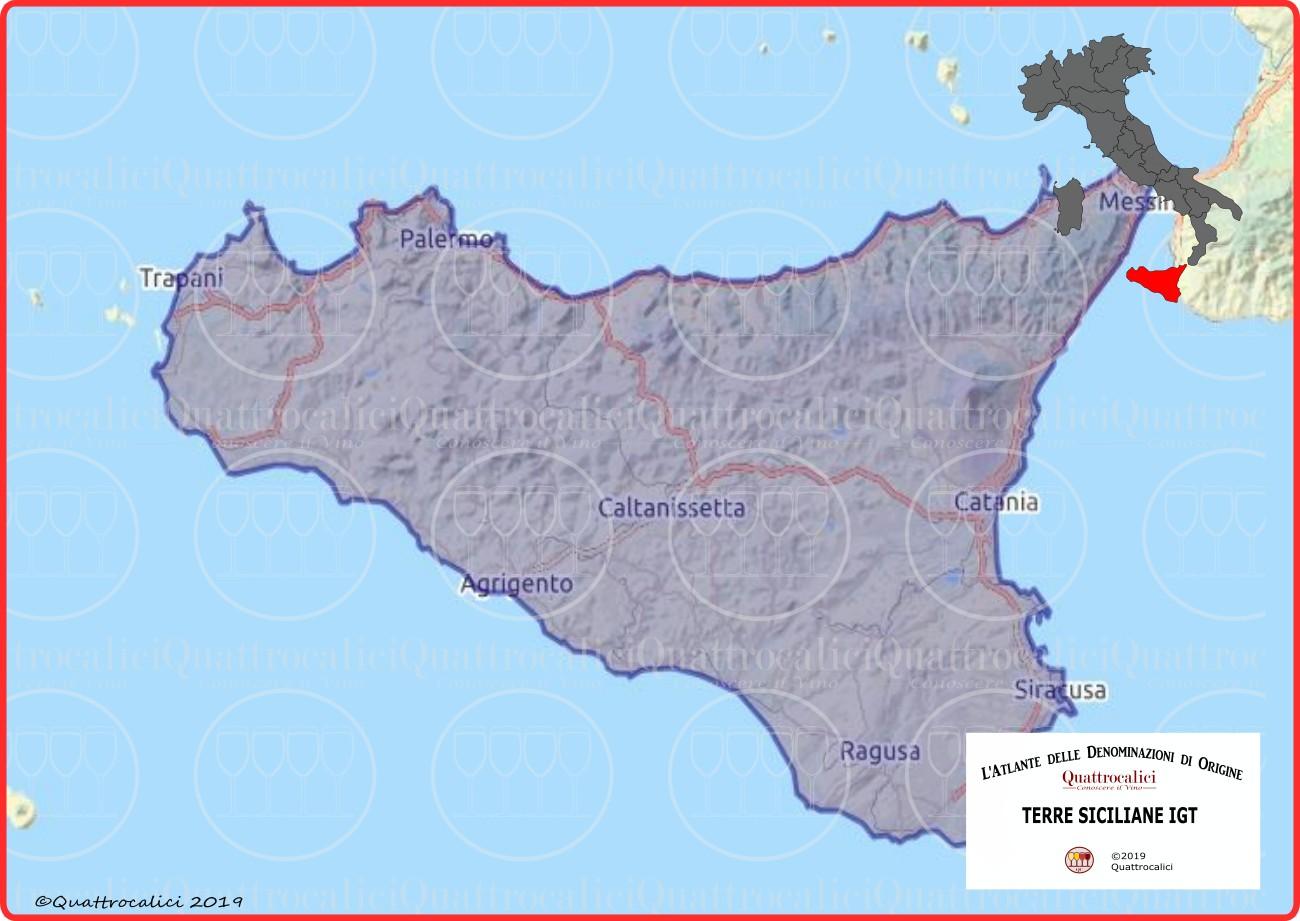 Terre Siciliane IGT cartina