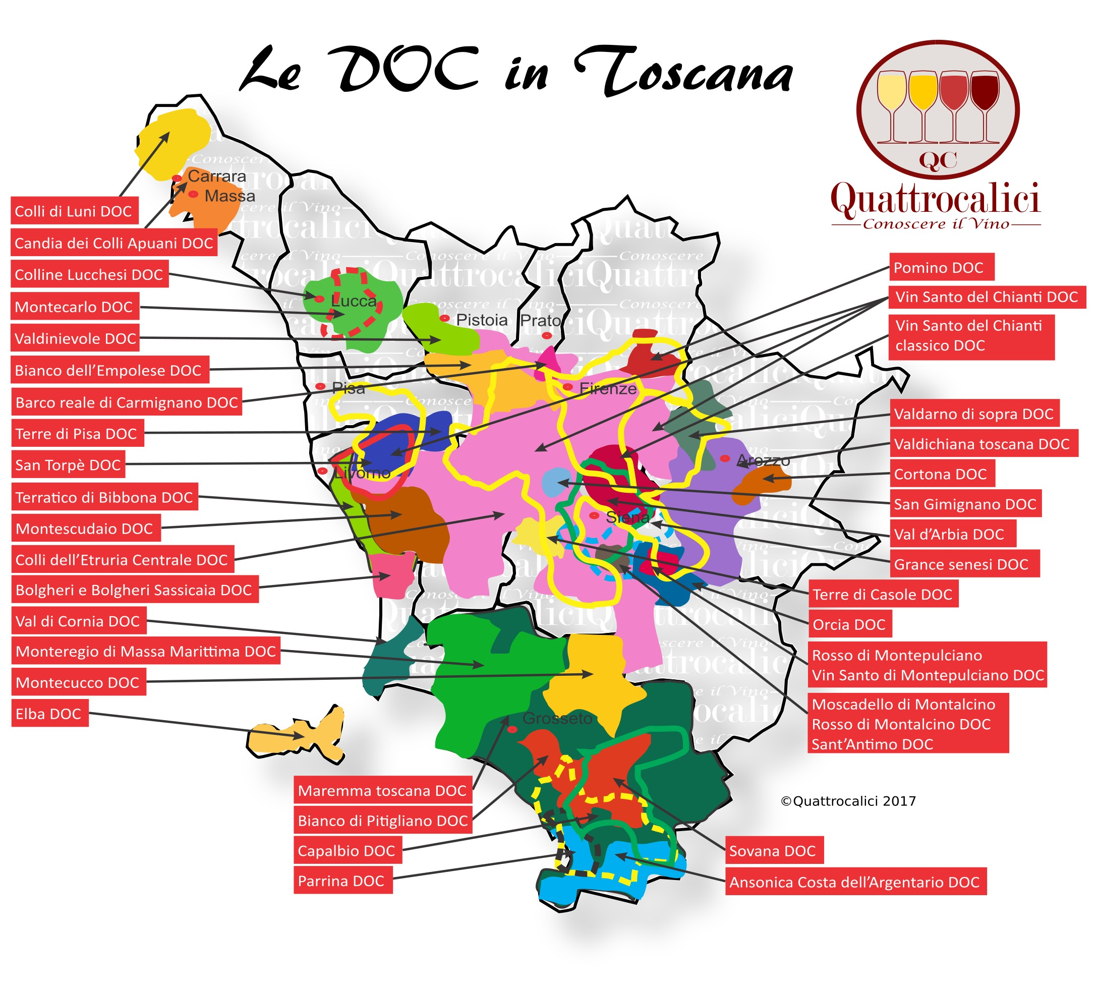 Le DOC in Toscana