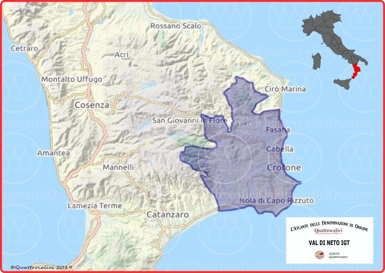 Val di Neto IGT Cartina