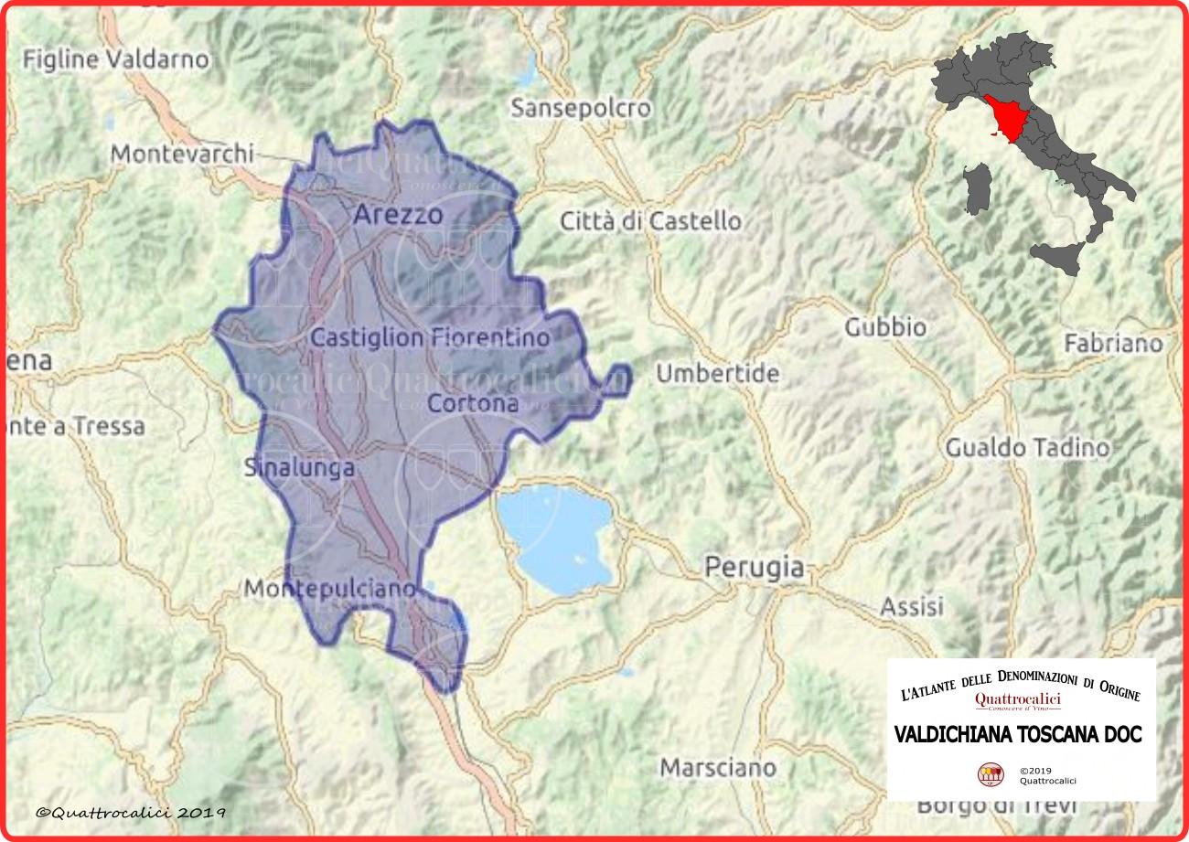 Cartina Valdichiana Toscana DOC