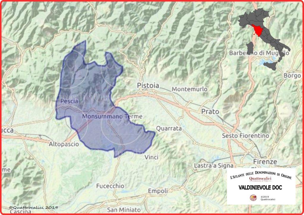 Cartina Valdinievole DOC