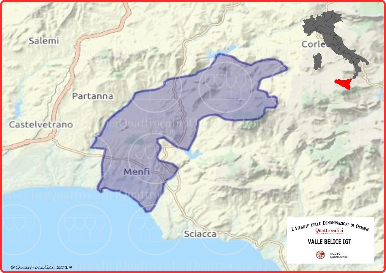 Valle Belice IGT cartina