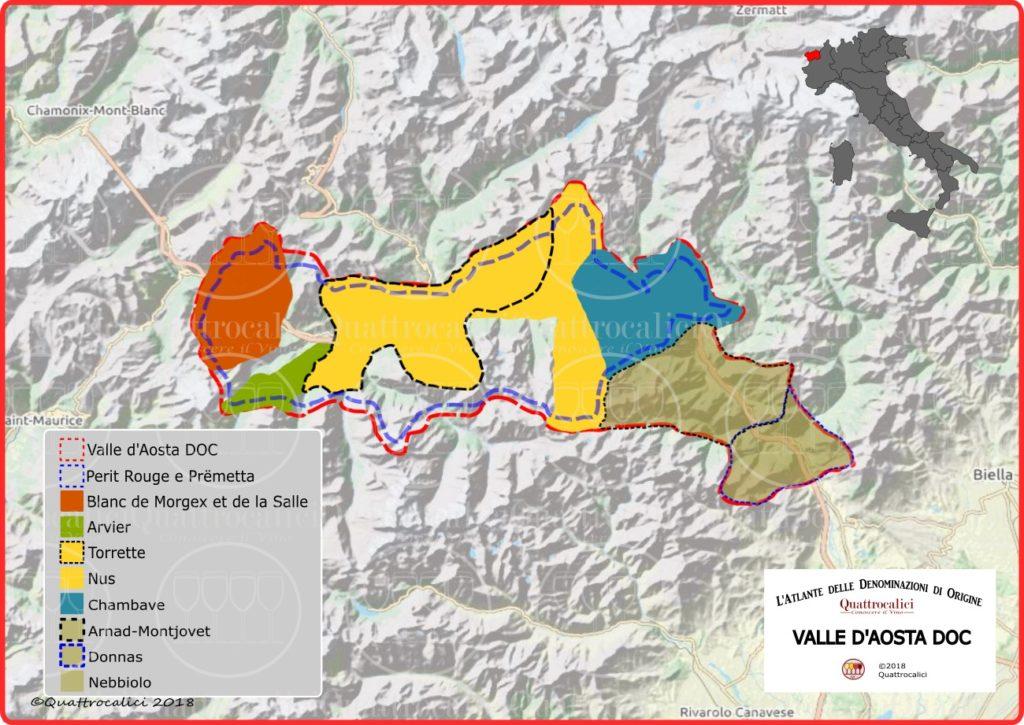 Valle d'Aosta DOC cartina