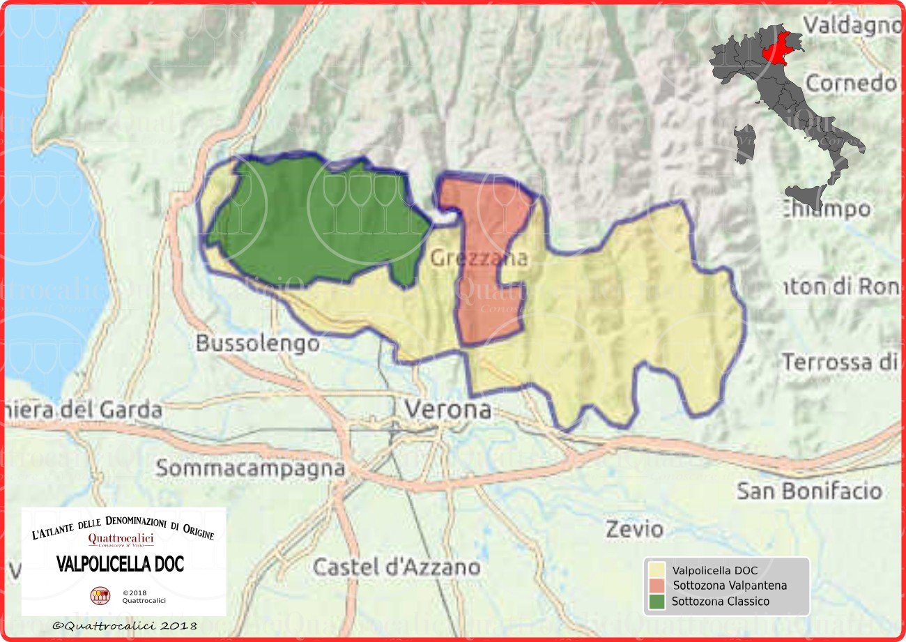 Cartina Valpolicella DOC