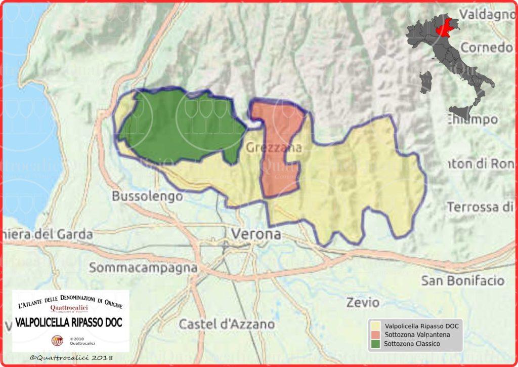 Cartina Valpolicella Ripasso DOC