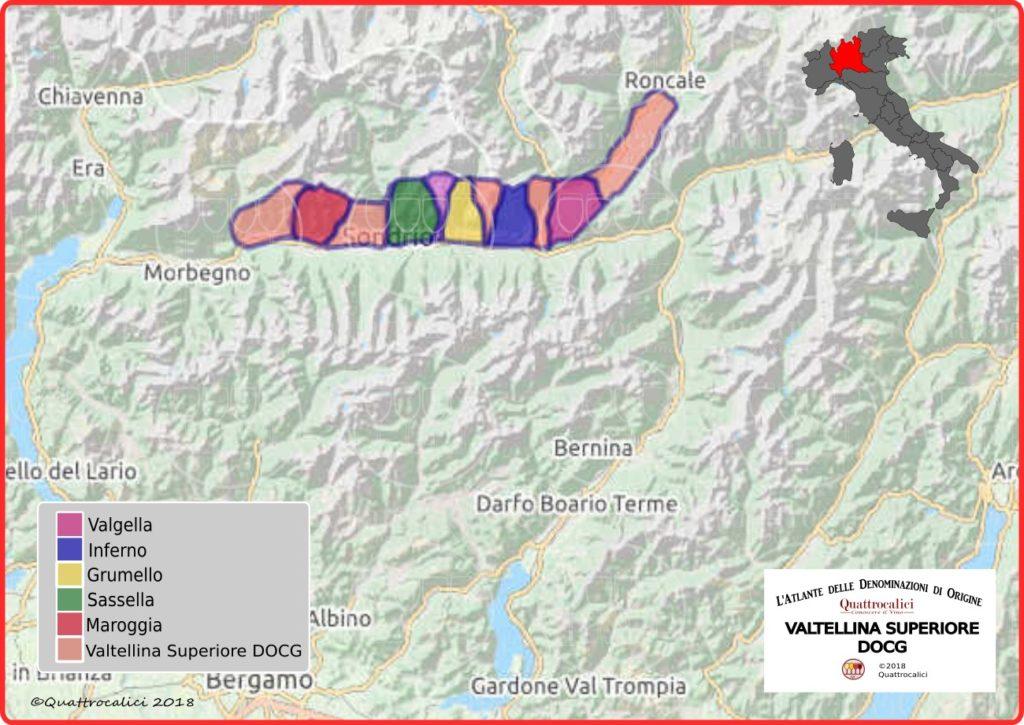 Valtellina superiore docg cartina