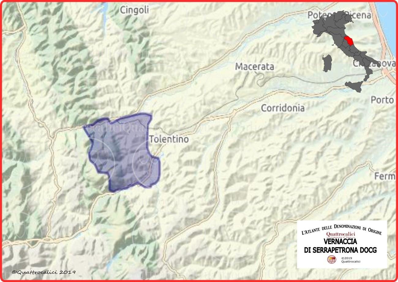 Cartina Vernaccia di Serrapetrona DOCG