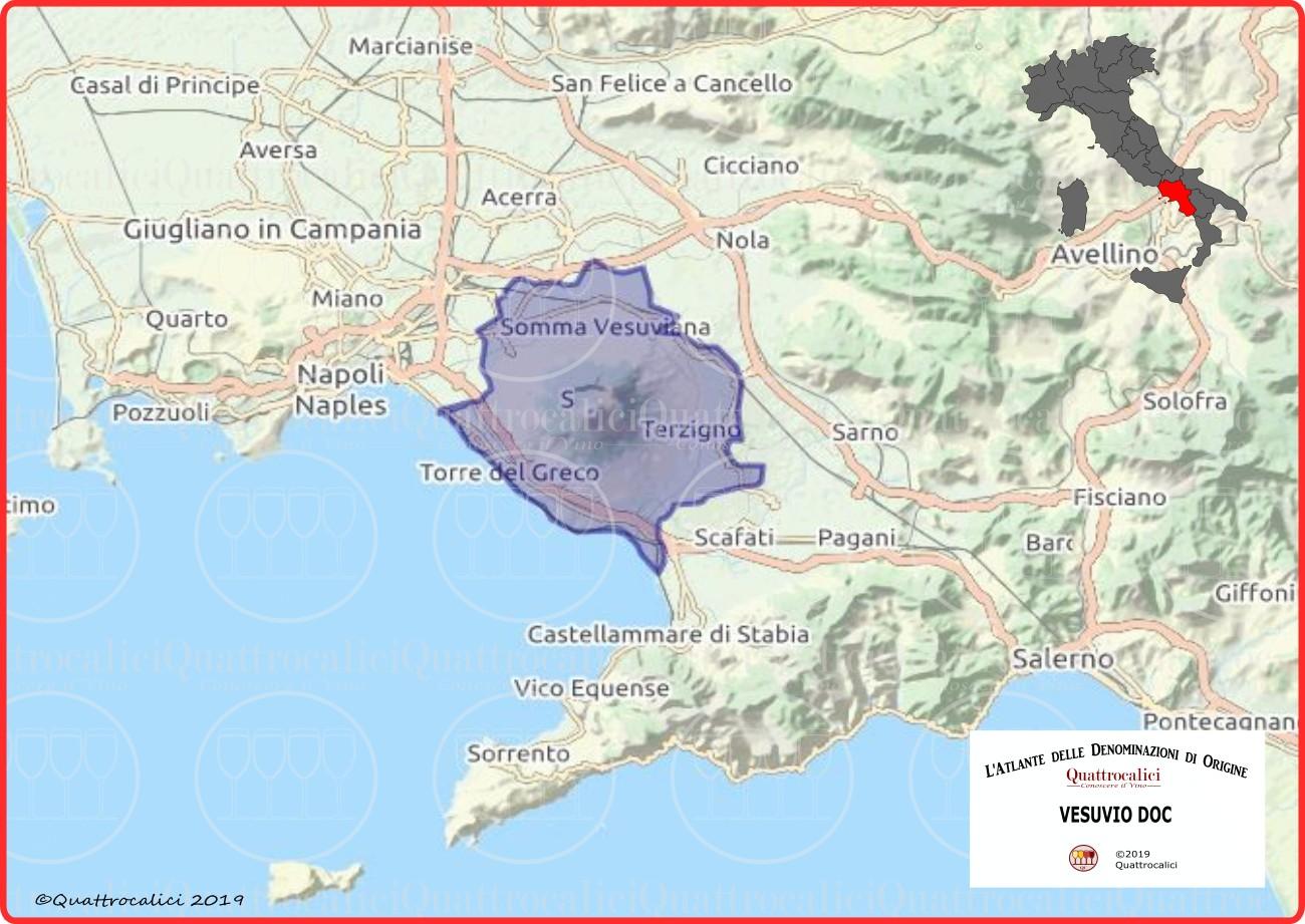 Vesuvio DOC cartina