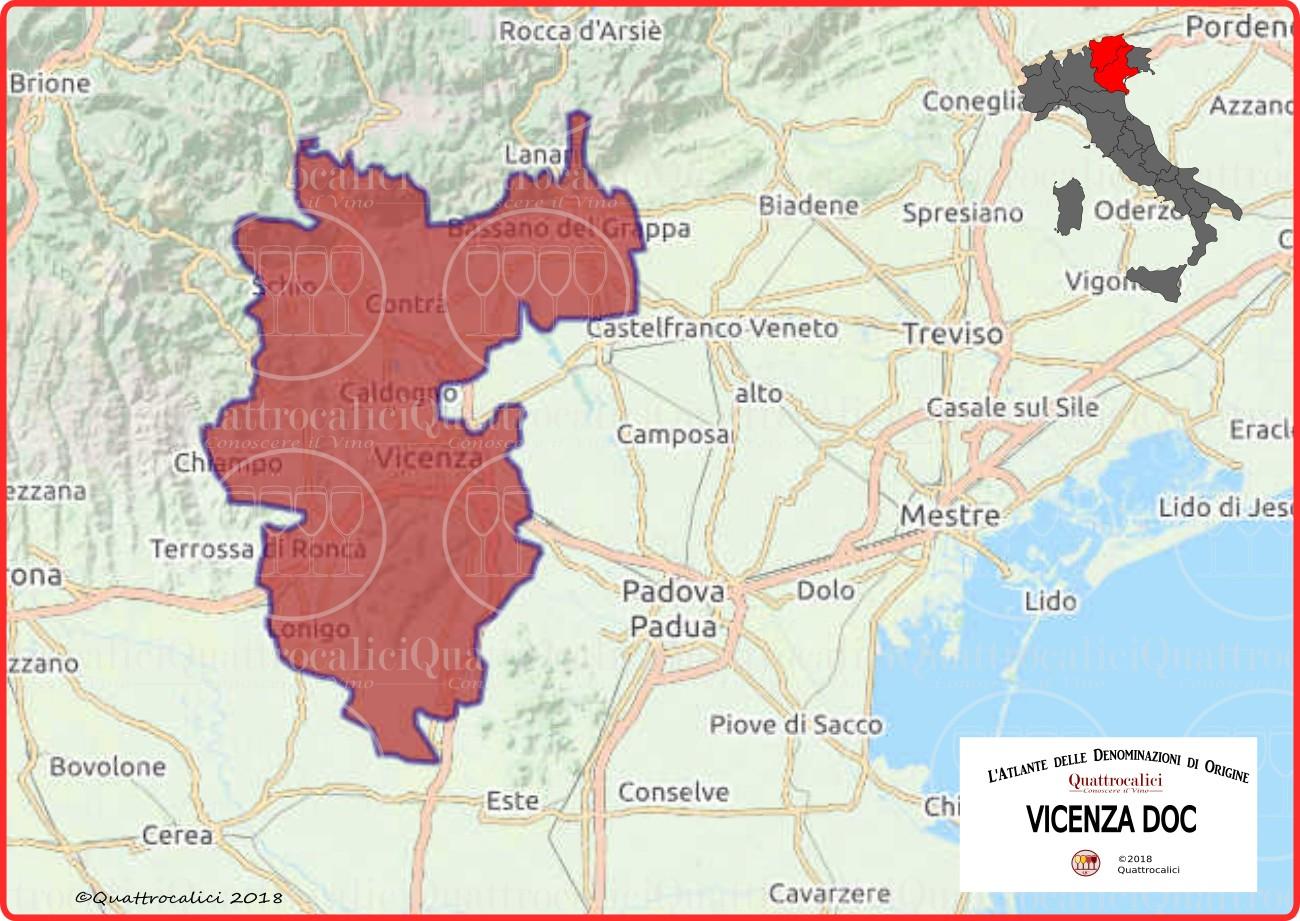 Cartina Vicenza DOC