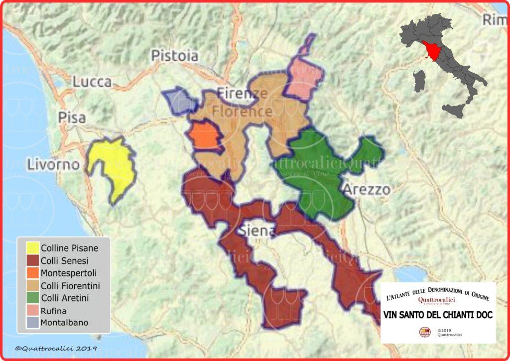 Cartina Vin Santo del Chianti DOC
