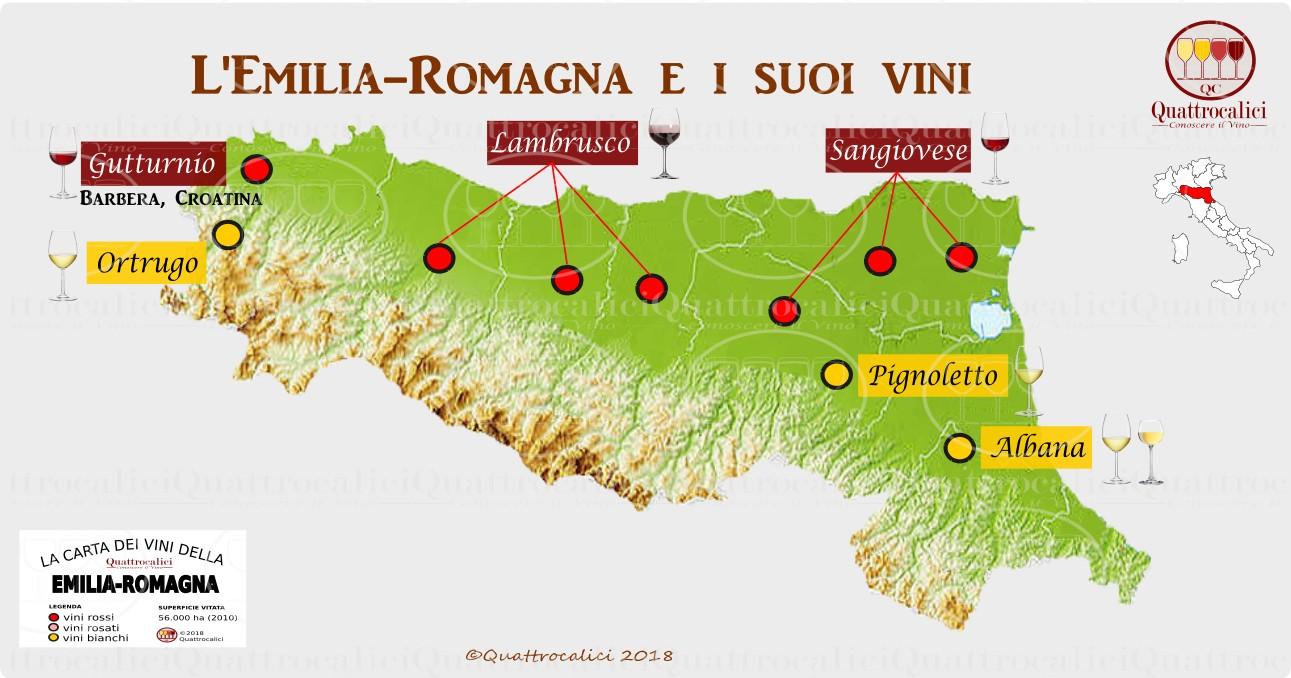 Emilia Romagna Cartina Province.Emilia Romagna Quattrocalici Le Regioni Del Vino