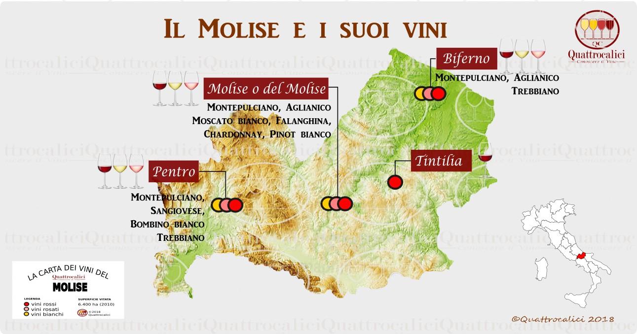 Cartina Molise Dettagliata.Molise Quattrocalici Le Regioni Del Vino